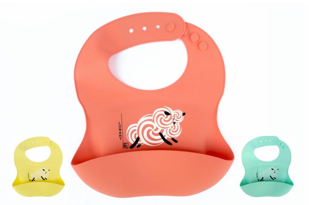 Eco Friendly Baby Lunart Silicone Bib