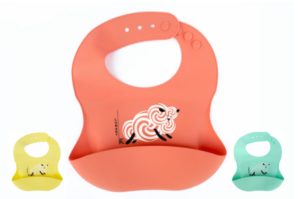 Eco Friendly Baby Lunart Silicone Bib