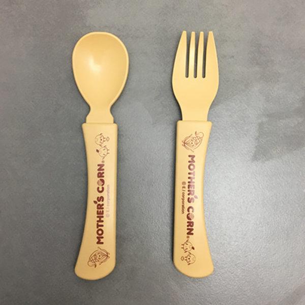 Eco Friendly Mother's Corn Junior Spoon Fork Set