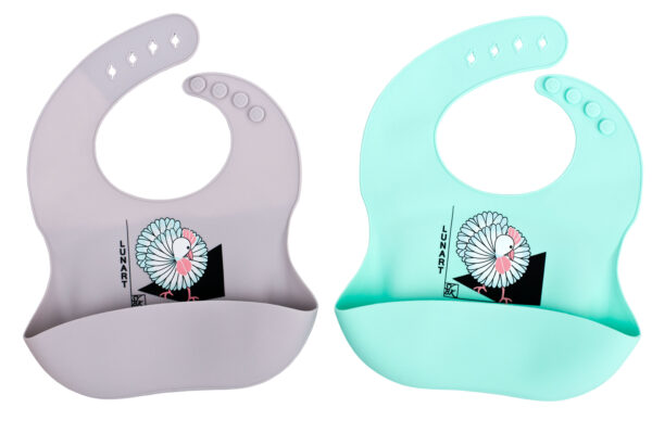Lunart Silicone Bibs Rooster
