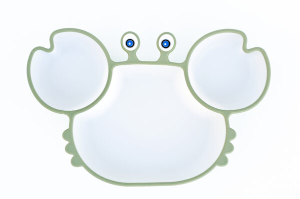 Lunart-Crab-Silicone-Suction-Plate-Khaki-5